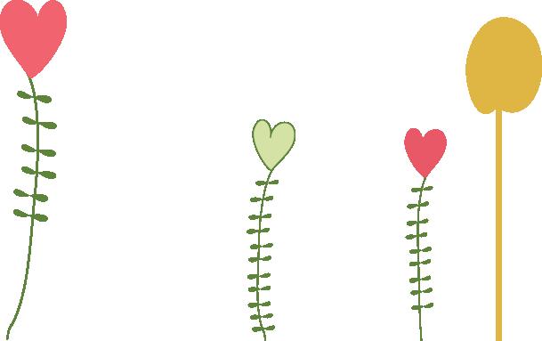 Flor de coração rosa